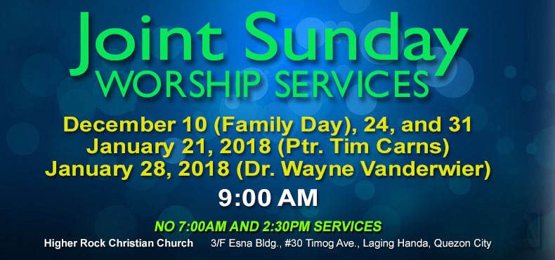 Higher Rock Christian Church Joint Worship Services
